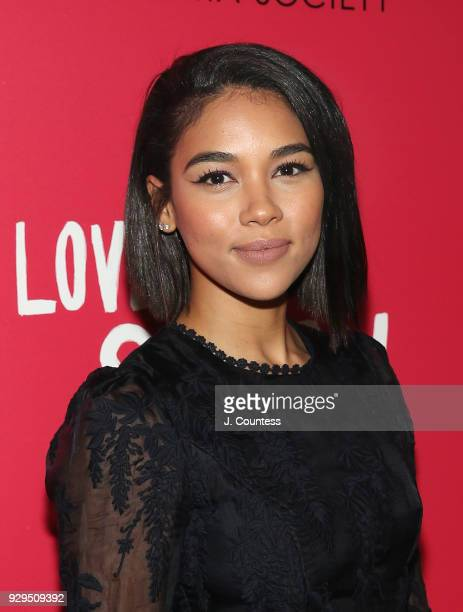 Actress Alexandra Shipp poses for a photo at the screening of 'Love Simon' hosted by 20th Century Fox Wingman at The Landmark at 57 West on March 8...