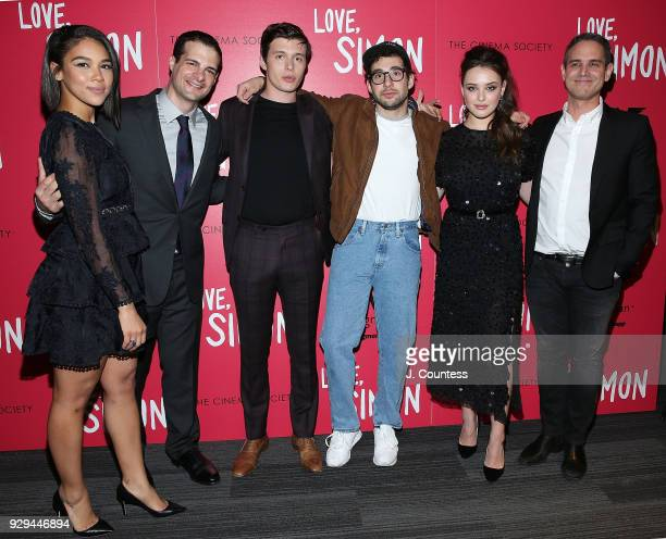 Actress Alexandra Shipp producer Pouya Shahbazian actor Nick Robinson soundtrack executive producer Jack Antonoff actress Katherine Langford and...