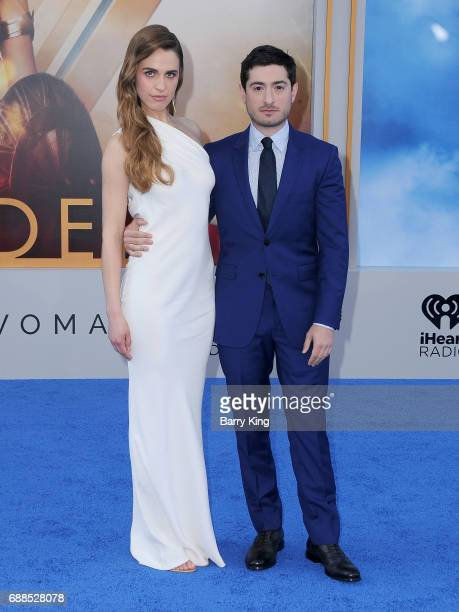 Actress Alexandra Siegel and actor Jason Fuchs attend the World Premiere of Warner Bros Pictures' 'Wonder Woman' at the Pantages Theatre on May 25...