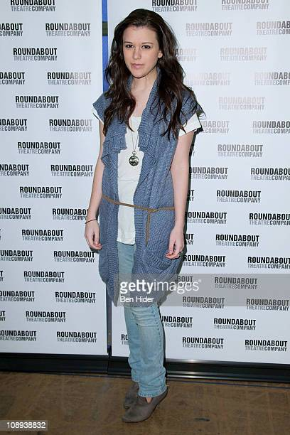 Actress Alexandra Socha attends 'The Dream of the Burning Boys' Broadway cast photocall on February 9 2011 in New York City