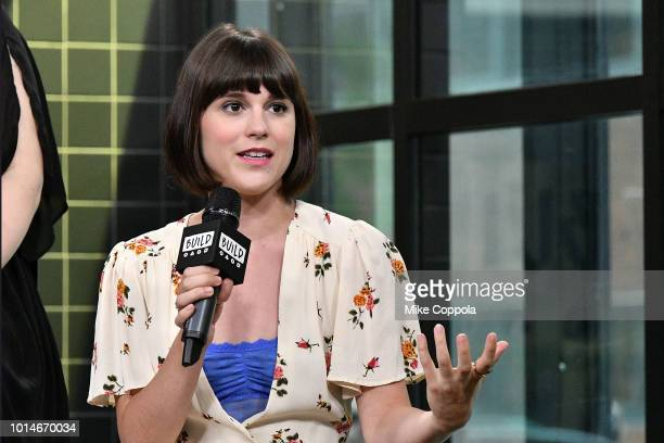 Actress Alexandra Socha from the cast of Head Over Heels visits Build Studio on August 10 2018 in New York City