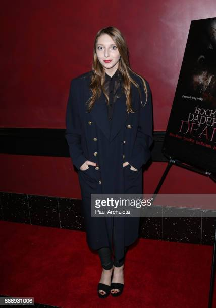Actress Alexandra Stamler attends the screening of 'Rock Paper Dead' at ArcLight Cinemas on October 31 2017 in Hollywood California