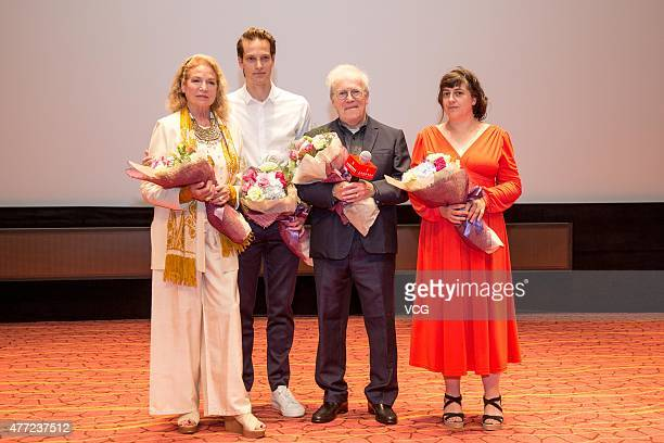 Actress Alexandra Stewart actor Andy Gillet director Joseph Morder and producer Celine Maugis attend 'La duchesse de Varsovie' press conference...