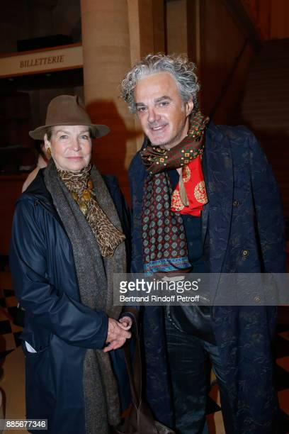 Actress Alexandra Stewart and writer JeanMichel Parker who wrote a Book on her attend the Tribute to Actress Jeanne Moreau at Odeon Theatre on...
