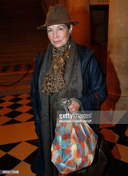 Actress Alexandra Stewart attends the Tribute to Actress Jeanne Moreau at Odeon Theatre on December 4 2017 in Paris France