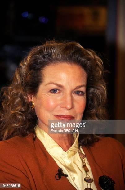 Actress Alexandra Stewart On Set Of TV Programme La Marche Du Siecle Paris December 19 1994