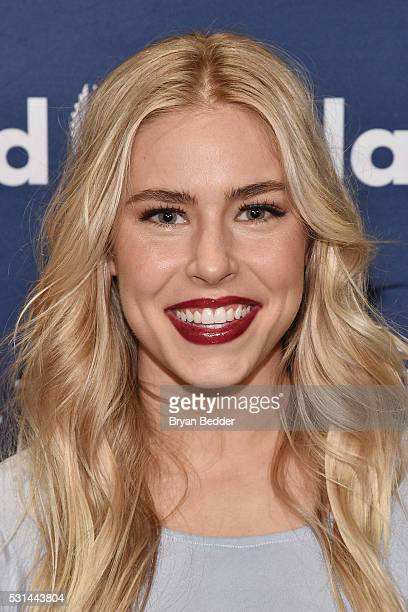 Actress Alexandra Turshen attends the 27th Annual GLAAD Media Awards in New York on May 14 2016 in New York City