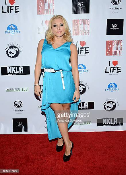 Actress Alexandra Vino arrives at the No Kill LA Charity Event at Fred Segal on April 2 2013 in West Hollywood California
