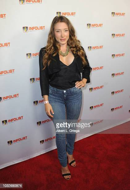 Actress Alexandra Vino arrives for the INFOListcom PreEmmy Soiree held at SkyBar at the Mondrian Los Angeles on September 12 2018 in West Hollywood...