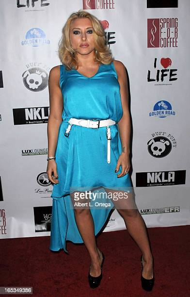 Actress Alexandra Vino arrives for the No Kill LA Charity Event held at Fred Segal on April 2 2013 in West Hollywood California