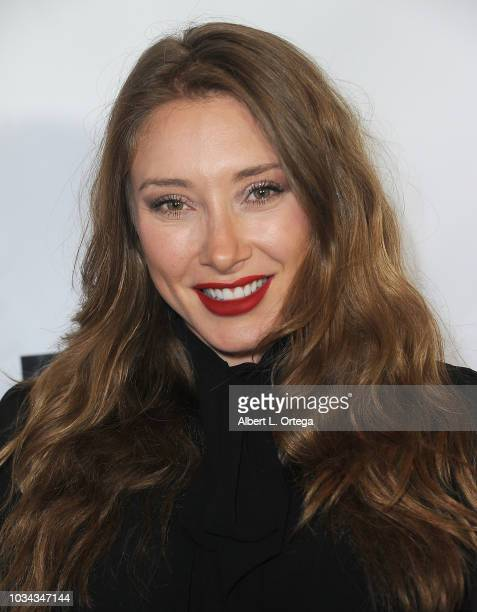 Actress Alexandra Vino arrives for the Premiere Of Cinespots' 'Warning Shot' held at The WGA Theater on September 6 2018 in Beverly Hills California