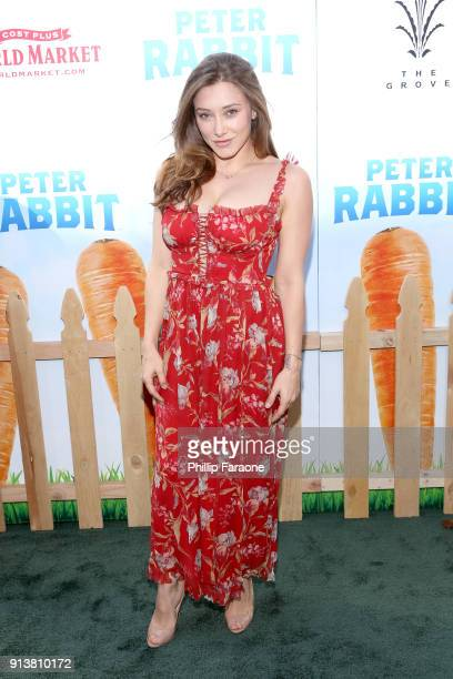 Actress Alexandra Vino attends the premiere of 'Peter Rabbit' sponsored by Cost Plus World Market at The Grove on February 3 2018 in Los Angeles...