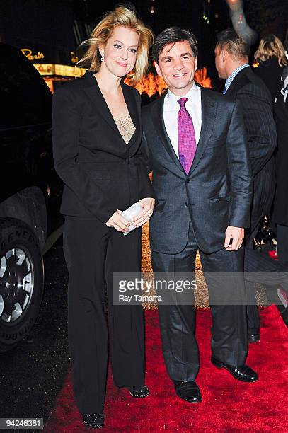 Actress Alexandra Wentworth and news anchor George Stephanopous attend the New York premiere of It's Complicated at The Paris Theatre on December 9...
