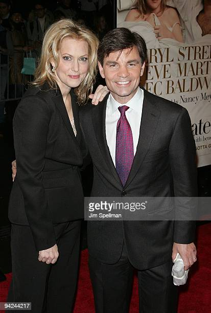 Actress Alexandra Wentworth and TV personality George Stephanopoulos attends the New York premiere of It's Complicated at The Paris Theatre on...