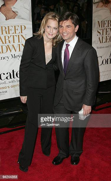 """Actress Alexandra Wentworth and TV personality George Stephanopoulos attend the New York premiere of """"It's Complicated"""" at The Paris Theatre on..."""