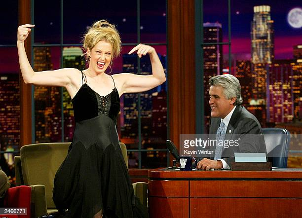 Actress Alexandra Wentworth appears on 'The Tonight Show with Jay Leno' at the NBC Studios on September 5 2003 in Burbank California