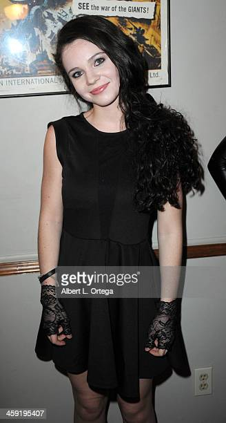 Actress AlexAnn Hopkins attends SyFy's Monster Man Cleve A Hall's Annual Halloween Party held at a private location on October 31 2013 in Encino...