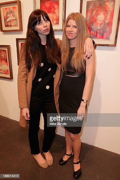 Actress Alexi Wasser and artist Vanessa Prager pose during 'HOURS' New Drawing Show Hosted By Amanda De Cadenet at Richard Heller Gallery on November...