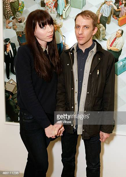 Actress Alexi Wasser and Musician Jeremiah Green attend Alex Prager Face In The Crowd Exhibition Opening Night Reception at MB Gallery on January 25...