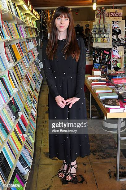 Actress Alexi Wasser attends the book signing of Illeana Douglas' book I Blame Dennis Hopper And Other Stories From A Life Lived In And Out Of The...