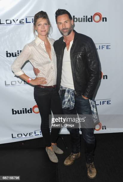 Actress Alexia Barlier and Ed Leyken attend the BuildOn Benefit Concert held at The Roxy Theatre on May 11 2017 in Westwood California