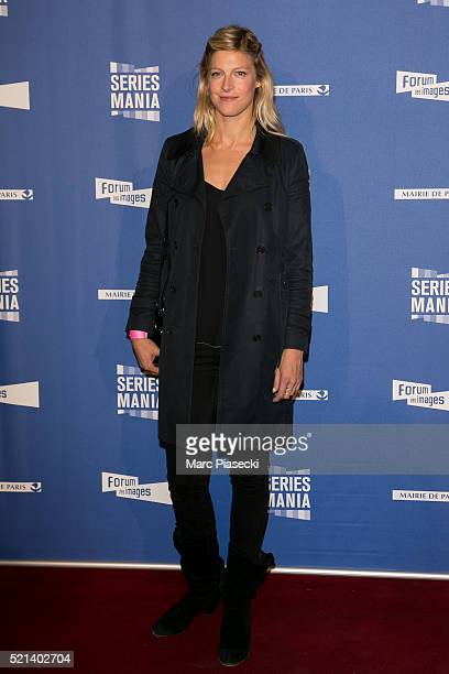 Actress Alexia Barlier attends the '7th Series Mania Festival' opening ceremony at Le Grand Rex on April 15 2016 in Paris France