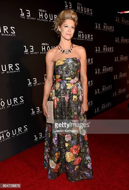 Actress Alexia Barlier attends the Dallas Premiere of the Paramount Pictures film '13 Hours The Secret Soldiers of Benghazi' at the ATT Dallas...