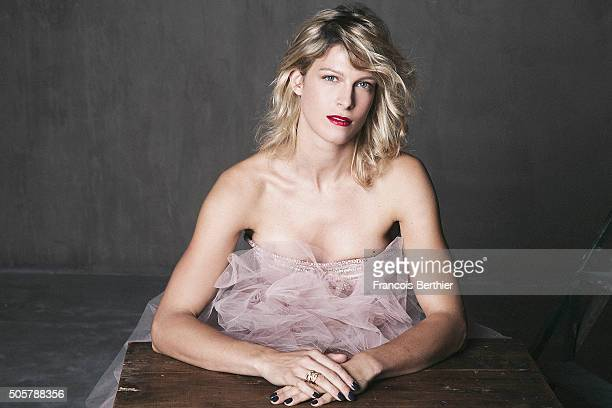 Actress Alexia Barlier is photographed for Self Assignment on October 21 2015 in Paris France