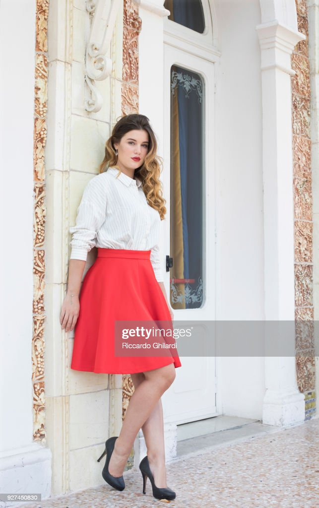 Actress Alexia Chardard is photographed for Self Assignment on September, 2017 in Venice, Italy. (Photo by Riccardo Ghilardi/Contour by Getty Images).