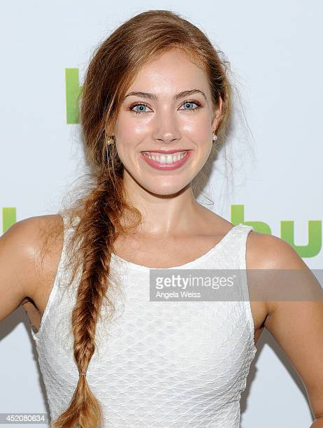 Actress Alexia Dox attends Hulu's TCA Presentation And Cocktail Party at The Beverly Hilton Hotel on July 12 2014 in Beverly Hills California