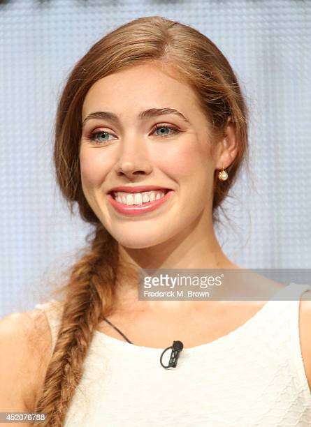 Actress Alexia Dox speaks onstage at the 'Quick Draw' panel during the Hulu portion of the 2014 Summer Television Critics Association at The Beverly...