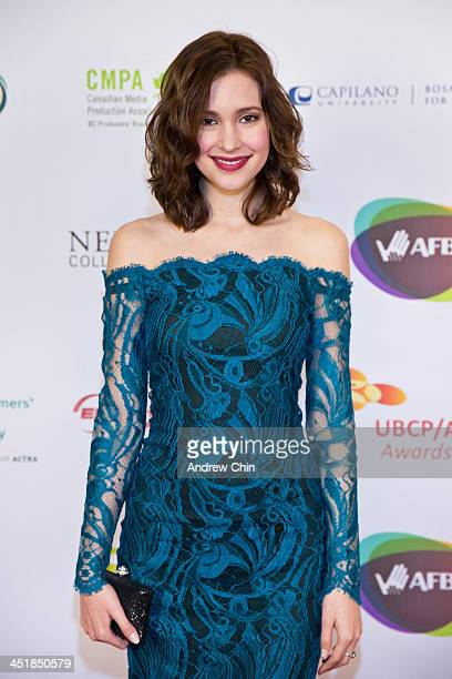 Actress Alexia Fast arrives at 2013 UBCP/ACTRA Awards on November 24 2013 in Vancouver Canada