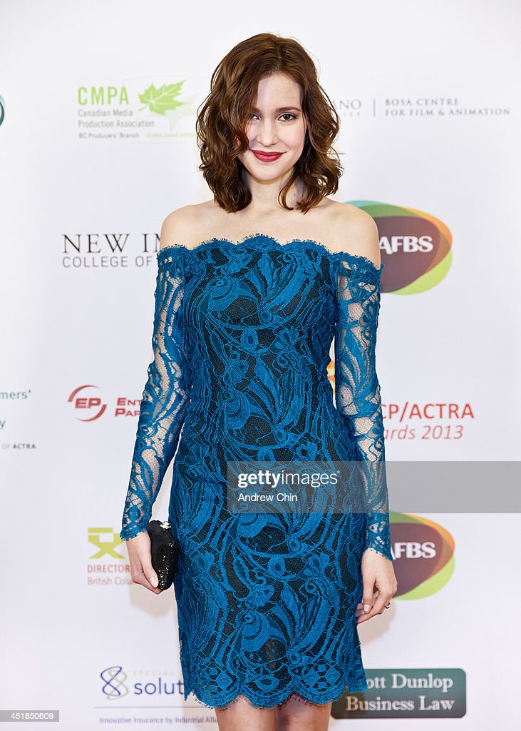 Actress Alexia Fast arrives at 2013 UBCP/ACTRA Awards on November 24, 2013 in Vancouver, Canada.