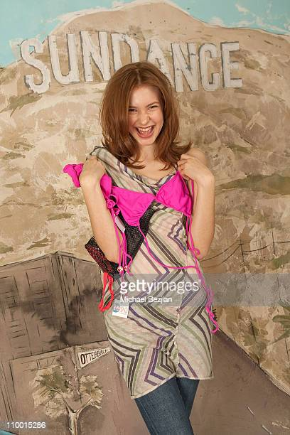 Actress Alexia Fast at the 1690 Swimwear Portrait Gallery at The Green Lodge on January 16 2009 in Park City Utah
