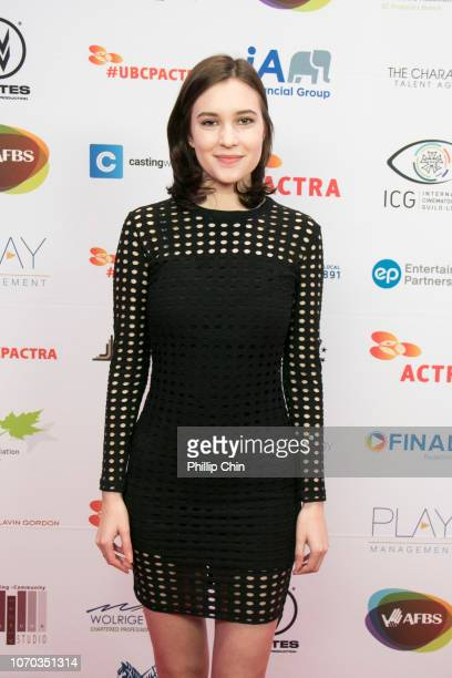 Actress Alexia Fast attends the 7th annual UBCP/ACTRA Awards red carpet at the Vancouver Playhouse on December 8 2018 in Vancouver Canada