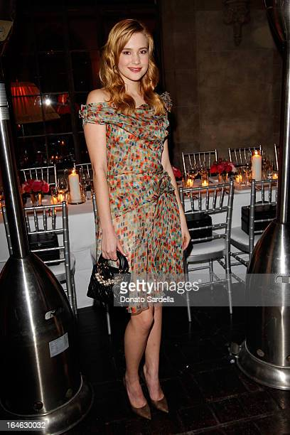 Actress Alexia Fast attends the Dior Beauty PreGolden Globe Dinner at Chateau Marmont on January 9 2013 in Los Angeles California