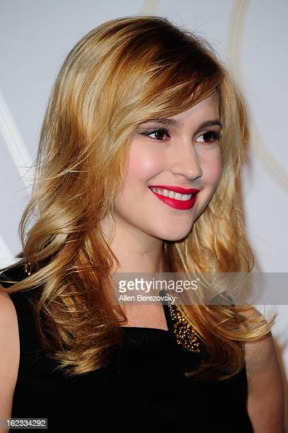 Actress Alexia Fast attends the LOVEGOLD cocktail party in honor of Fred Leighton at Chateau Marmont on February 21 2013 in Los Angeles California