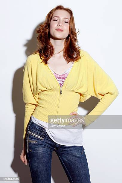 Actress Alexia Fast poses for a portrait during the 2009 Sundance Film Festival held at the Film Lounge Media Center on January 17 2009 in Park City...