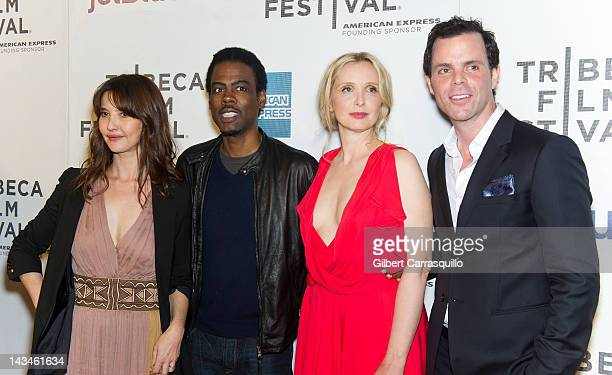 Actress Alexia Landeau Chris Rock actress Julie Delpy and actor Alex Manette attend the 2 Days in New York premiere during the 2012 Tribeca Film...