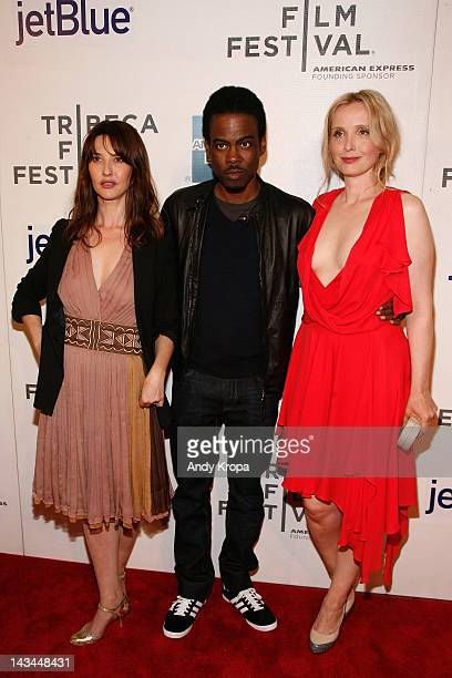 Actress Alexia Landeau Chris Rock and actress Julie Delpy attend the 2 Days In New York Premiere during the 2012 Tribeca Film Festival at the Borough...