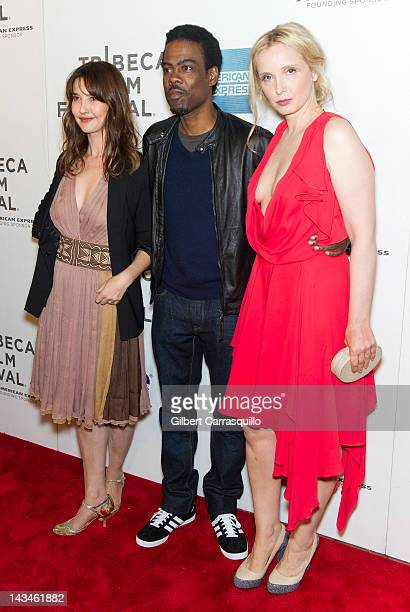 Actress Alexia Landeau Chris Rock and actress Julie Delpy attend the 2 Days in New York premiere during the 2012 Tribeca Film Festival at BMCC...