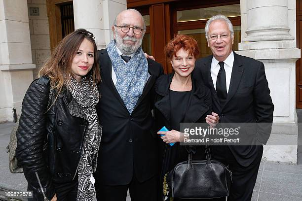 Actress Alexie Ribes Actor JeanPierre Marielle with his wife actress Agathe Natanson and Director Bernard Murat attend the delivery of the medal of...