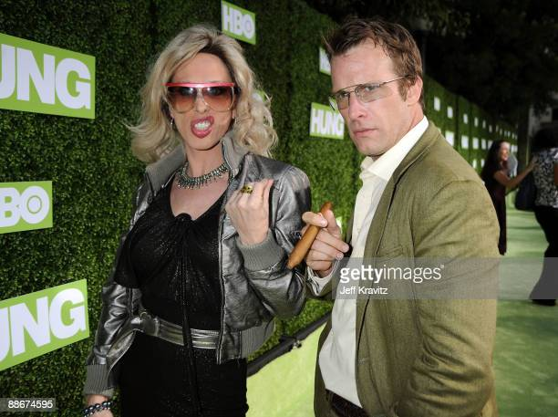 Actress Alexis Arquette and actor Thomas Jane arrive at the HBO premiere of 'Hung' held at Paramount Studios on June 24 2009 in Los Angeles California