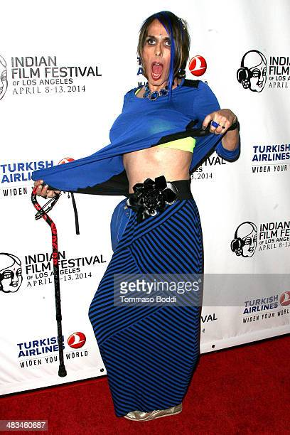 Actress Alexis Arquette attends the 2014 Indian Film Festival of Los Angeles opening night screening of 'Sold' held at the ArcLight Cinemas on April...