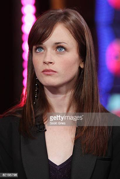 Actress Alexis Bledel appears onstage during MTV's Total Request Live at the MTV Times Square Studios August 4 2008 in New York City