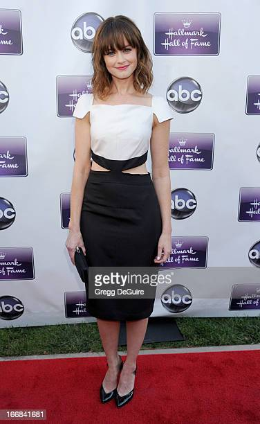 Actress Alexis Bledel arrives at Disney ABC Television and the Hallmark Hall Of Fame's premiere of 'Remembering Sunday' at Fox Studio Lot on April 17...