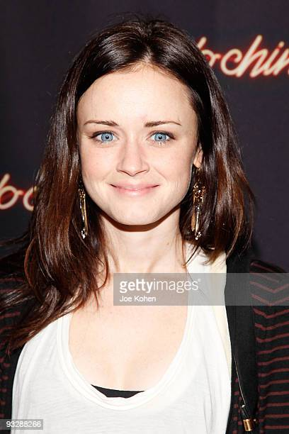 Actress Alexis Bledel arrives at Indochine 25th Anniversary celebration on November 20 2009 in New York City