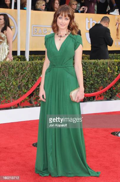 Actress Alexis Bledel arrives at the 19th Annual Screen Actors Guild Awards at The Shrine Auditorium on January 27 2013 in Los Angeles California