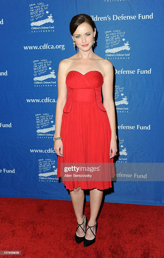 Actress Alexis Bledel arrives at the Children's Defense Fund of California 22nd Annual Beat The Odds Awards at Beverly Hills Hotel on December 6, 2012 in Beverly Hills, California.