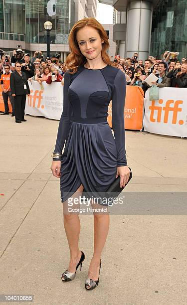 Actress Alexis Bledel arrives at 'The Conspirator' Premiere held at Roy Thomson Hall during the 35th Toronto International Film Festival on September...